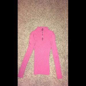 Rue 21 Zip Up Stretchy Long Sleeve Sweater Top